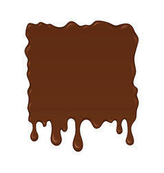 brown splash liquid vector image