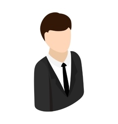 Businessman isometric 3d icon vector image