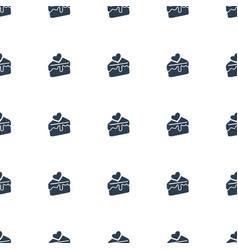 cake slice icon pattern seamless white background vector image