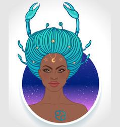Cancer astrological sign vector