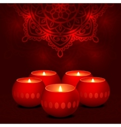 candles dark mandala vector image