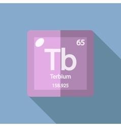 Chemical element Terbium Flat vector