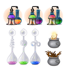 Chemical laboratory experiments boiling liquids vector