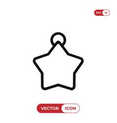 christmas star ball icon vector image