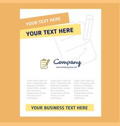 Clipboard title page design for company profile vector