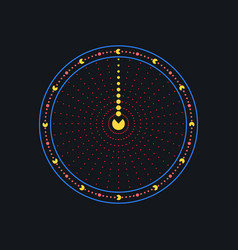 clock creative watches from points vector image