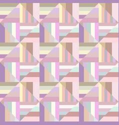 Colorful geometric striped square pattern vector