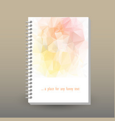 Cover of diary soft pastel pink peach yellow color vector