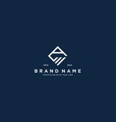 Creative letter a financial chart logo design vector