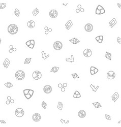 Cryptocurrency seamless pattern background vector