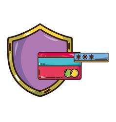 Cybersecurity threat cartoon vector