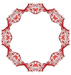Decorative circle vector image