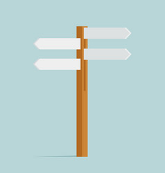 direction sign street decoration object isolated vector image