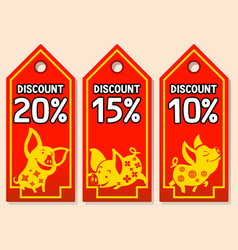 discount price tag for chinese new year vector image