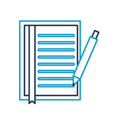document sheet bookmark and pen office object vector image