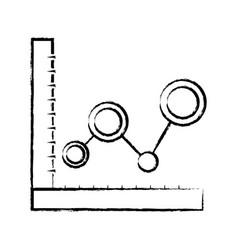 figure statistics graphic diagram with data line vector image