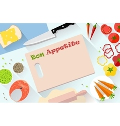 Flat food and cooking banner For decoration web vector image