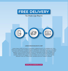 free delivery service concept vector image
