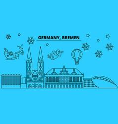 germany bremen winter holidays skyline merry vector image