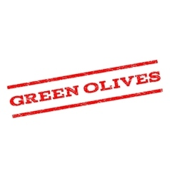 Green Olives Watermark Stamp vector