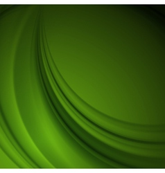 Green smooth lines background vector
