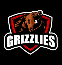 grizzly mascot vector image