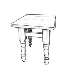 hand drawn sketch of a chair vector image