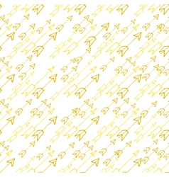 Hand-drawn yellow arrows on white background vector