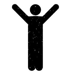 Happy man grainy texture icon vector