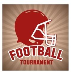 Helmet of american football design vector