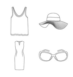 Isolated object woman and clothing symbol vector