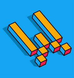 isometric w letter w 3d logo vector image