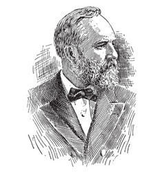 James abram garfield vintage vector