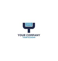 key pad logo design vector image