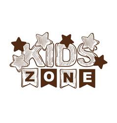 Kid party zone event celebration decoration vector