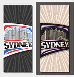 layouts for sydney vector image