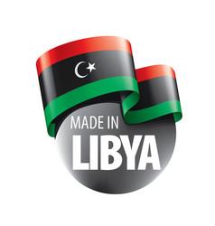 Libya flag on a white vector