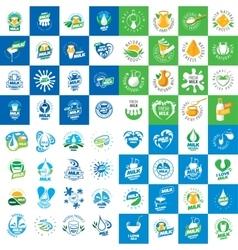 liquid milk logo vector image