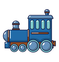 locomotive icon cartoon style vector image