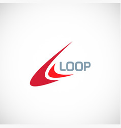loop abstract logo vector image