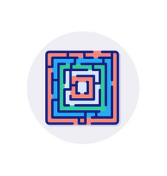 Maze icon in logotype vector