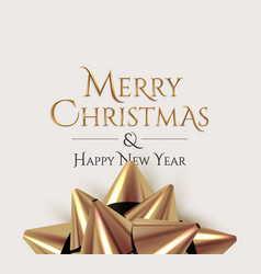 merry christmas luxury golden lettering sign vector image