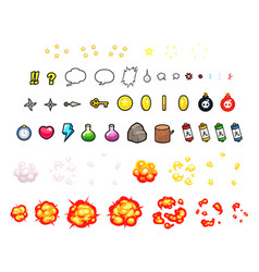 miscellaneous items game sprites vector image