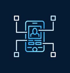 Mobile app development creative modern line vector