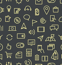 Modern gadgets pictograms seamless background vector