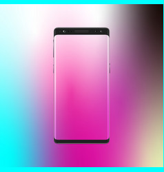 modern smartphone on gradient background mobile vector image