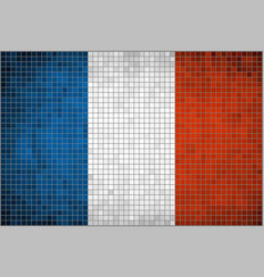 Mosaic flag of France vector