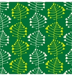 Ornate simple beauty leave seamless pattern vector