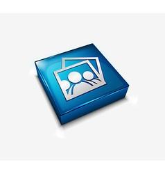 Photo web icons vector