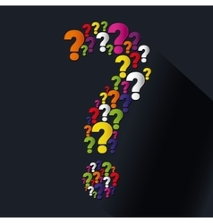Question and solutions icons vector image